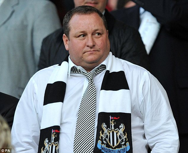 Unhappy: Sports Direct and Newcastle United owner Mike Ashley