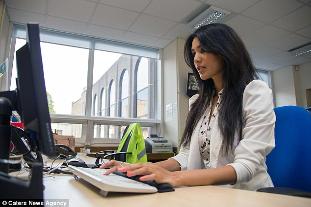 Work: Sonia 'loves' her job in which she processes Blue Badge applications and issues disability permits