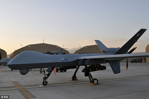Air support: The newest Reaper drones fly from Kandahar airfield on missions which will aid Afghan, UK and ISAF forces. The Ministry of Defence say they are key in maintaining security in the country