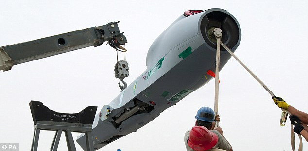 Stability: The drone, being assembled at the Afghan base, is said to be vital as allied forces continue to pull out of the country