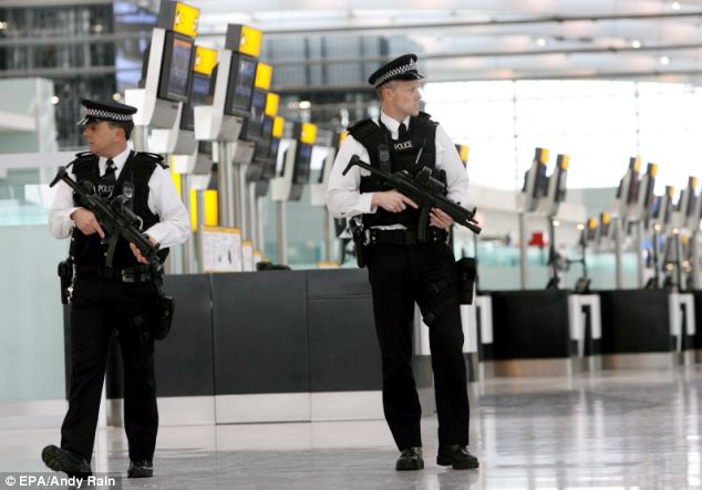 Alert: Britain's airports were put on a new terror alert last night amid fears of attacks from Islamist extremists, who US officials say are working on a new 'undetectable' bomb (file photo)