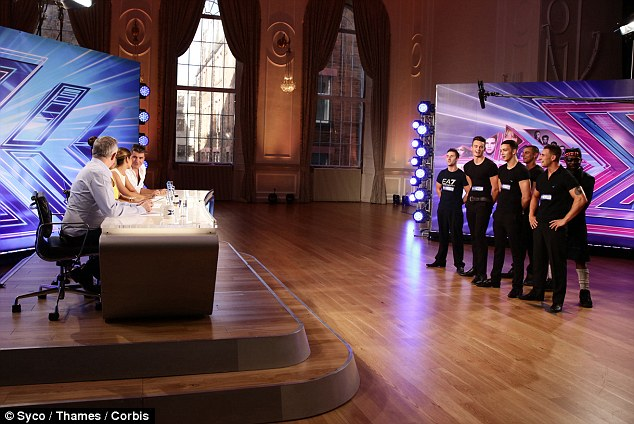 Boys: The strippers pretended to be a band before they made their grand reveal