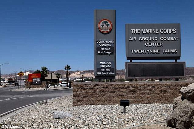 Army family: The couple live at the Marine Corps Air Ground Combat Center in Twentynine Palms