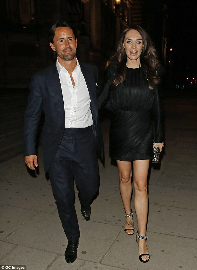 Back again: While Tamara Ecclestone and her husband Jau Rutfield once again enjoyed a night out at the club du jour