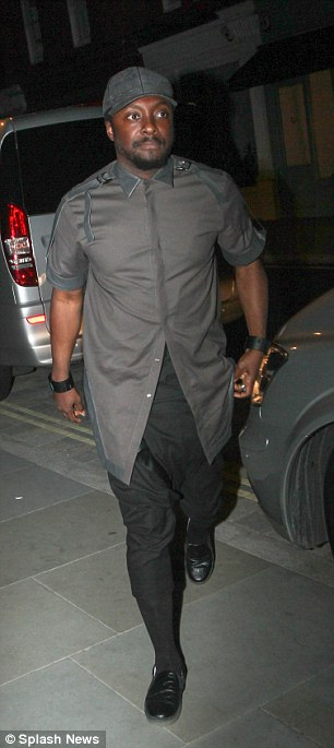 It's that good: Musician Will.I.Am also made his way into the popular eatery while Star Wars director J.J. Abrams was pictured at the venue for the second night in a row