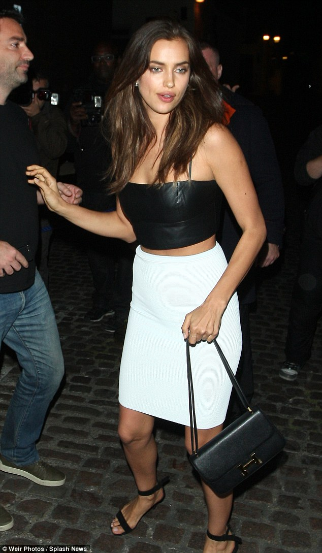 All eyes on her: It was no surprise that Irina Shayk turned heads as she led the always impressive of celebrities that made their way to the Chiltern Firehouse on Wednesday
