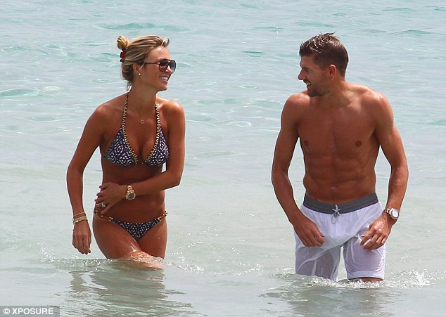Recovery: The England captain has been taking his mind of his World Cup misery in Ibiza