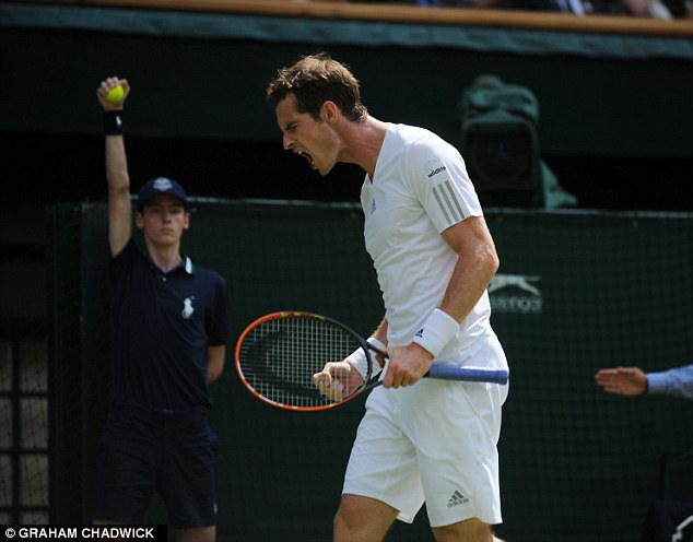 X-rated: Murray was thought to have been heard swearing towards his own team at Wimbledon