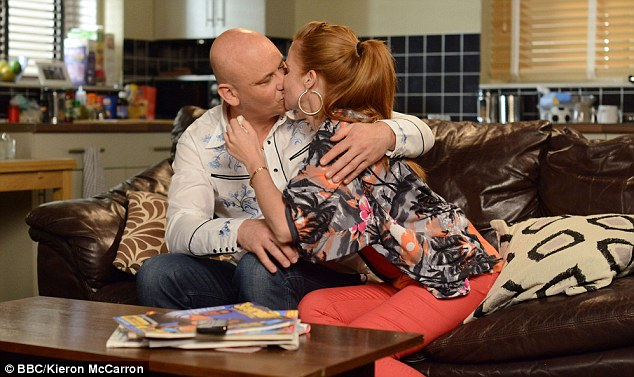 Former flame: EastEnders' Bianca Butcher is set to share a sneaky smooch with her ex-boyfriend Terry Spraggan
