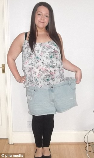 Siobhann in her old shorts