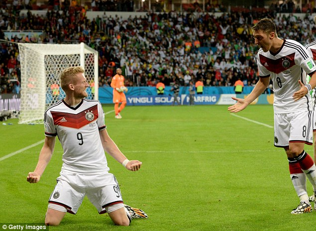 Premier League's finest: Andre Schurrle and Mesut Ozil both scored for Germany in their last-16 tie