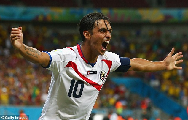 Surprise package: Bryan Ruiz might have been out on loan but he's still England-based with Fulham