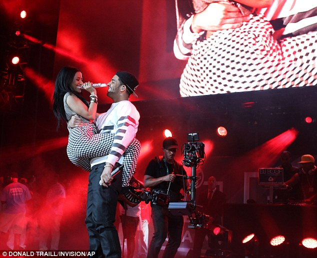 Road to recovery: Drake was seen performing with label mate Nicki Minaj and Drake during Hot 97's Summer Jam at MetLife Stadium in June