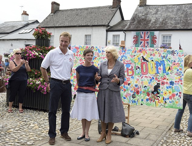 Meet and greet: Camilla, Duchess of Cornwall attends the 50th Anniversary of  RHS Britain in Bloom at Usk in Bloom