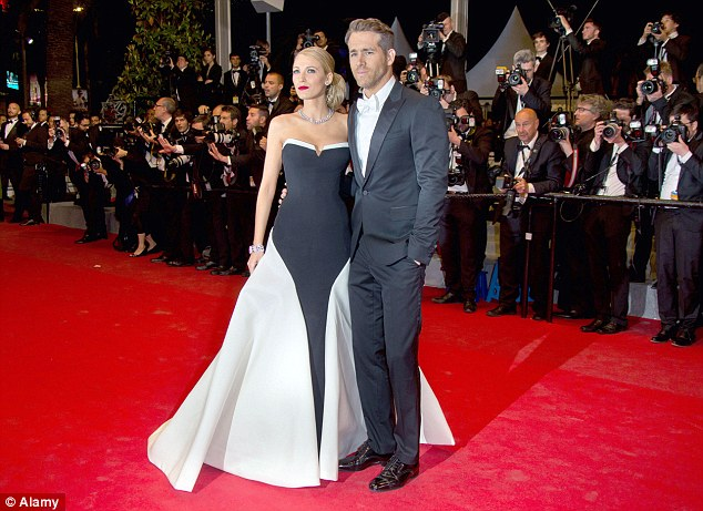 A-list couple: Blake and husband Ryan Reynolds pictured at this year's Cannes Film Festival