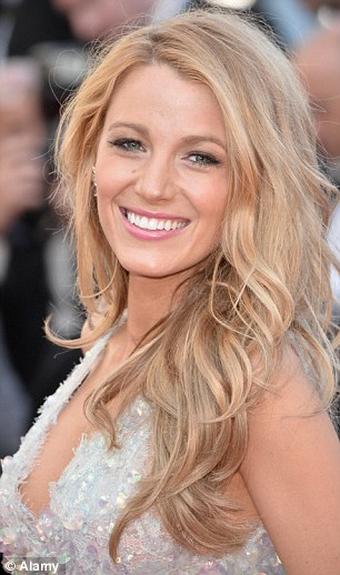 Minimal effort: Blake, pictured in Cannes, says she uses seawater to give her hair texture