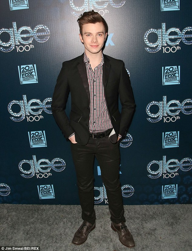 Not going anywhere: Chris Colfer, pictured in March, Twitter was hacked on Thursday claiming the star had been dumped from the popular show
