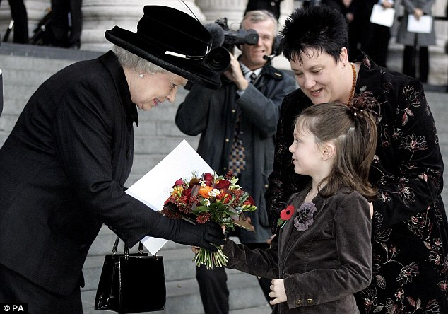 Adam's mother Louise Gray and her daughter Ruby met the Queen at a memorial service for the 52 who were killed in the Tube bombings on July 7, 2005