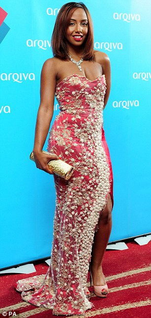 All about the lace: Margarita Taylor and Jade Avia incorporated the delicate material into their dress choices