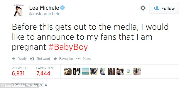 Hacked: Lea's rep confirmed that her account was hacked and she's not in fact pregnant