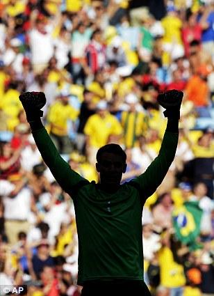 Number one: Neuer celebrates Germany's win