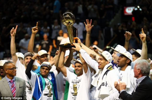 The just-concluded NBA series where the San Antonio Spurs beat the Miami Heat averaged 15.5 million viewers, with 18 million watching the final game