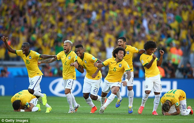 Favourites: Host nation Brazil have regularly been tipped to win the World Cup this summer
