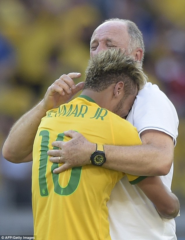 Tears: Brazil's players have wept regularly during the tournament so far and must check their emotions