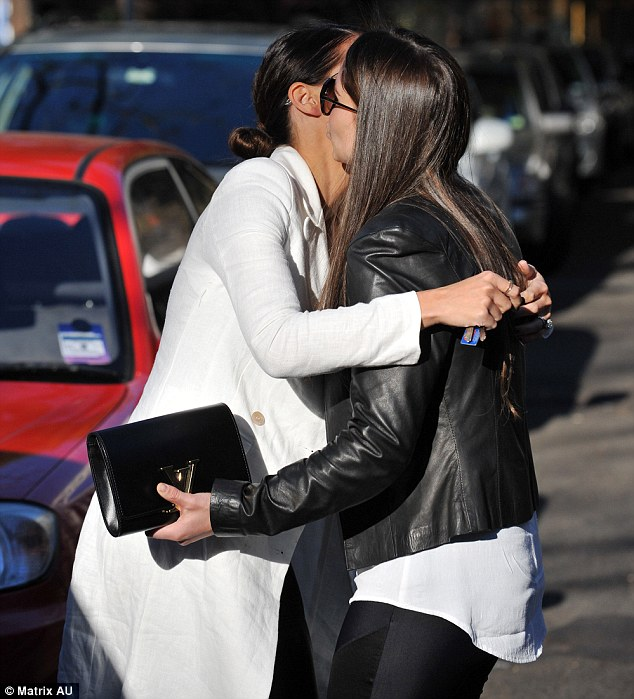 Goodbye: The ladies had a hug before Jodi carried on with her shopping trip