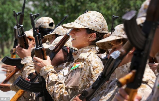 Kurdish women living in northern Iraq are training to be Peshmerga, as the self-ruled Kurdish region's militia is known, to fight against the threat of Islamic militants