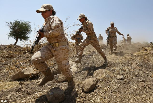 The elite female unit of the Kurdish Peshmerga train as they prepare to protect their land from the threat of Islamic militants