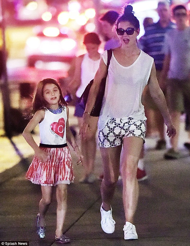 'I didn't know how much love I had in me. It's overwhelming': Of raising eight-year-old daughter Suri as a single mom - seen here together on July 2 - the star gushes, 'Every day I discover more about this spectacular human being I get to be the mother of'