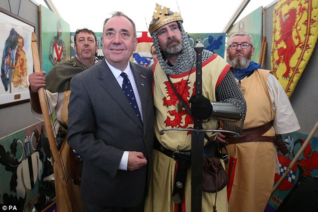 Historic moment: Scotland's First Minister Alex Salmond is battling hard to persuade his voters to leave the UK