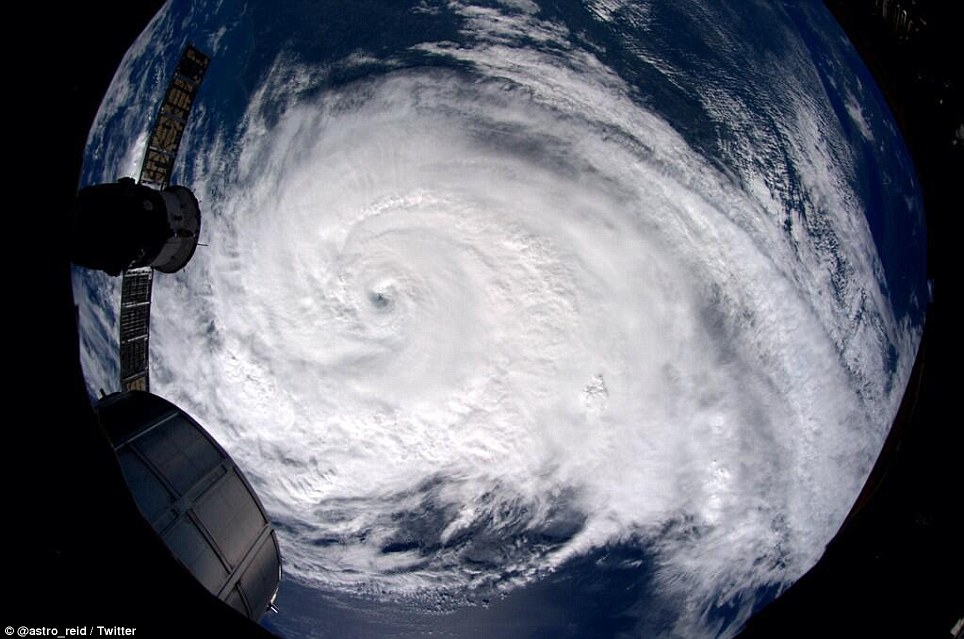 This incredible image shows swirling Hurricane Arthur from high above Earth in the International Space Station