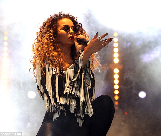 Monochrome magic: Ella Eyre performed in the London leg of the festival