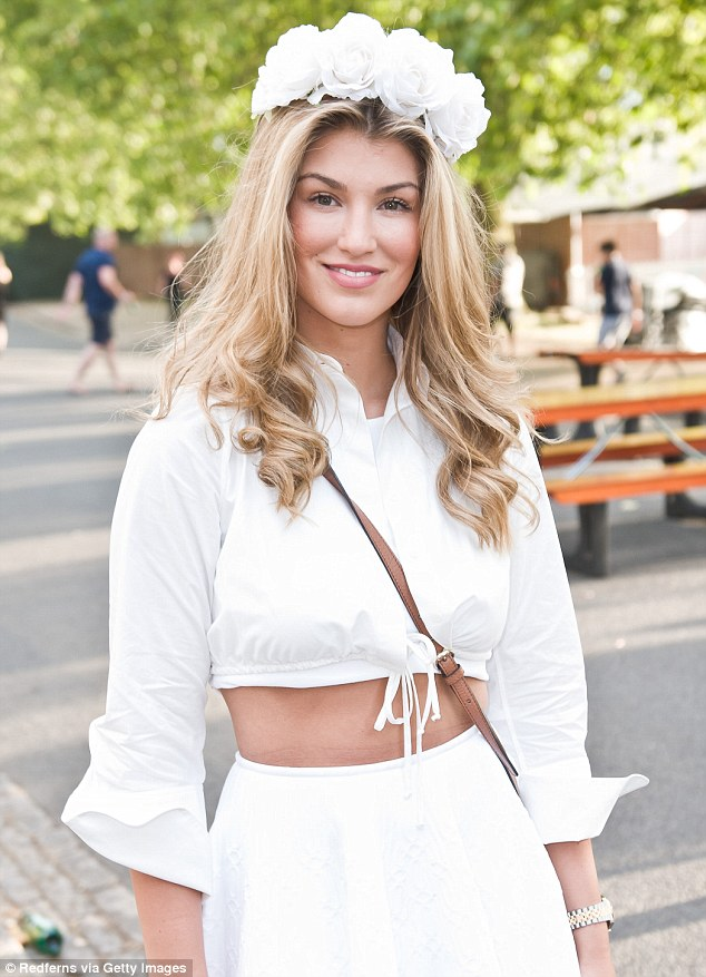 Flower power! Amy Willerton was getting into the spirit of things with her floral headband