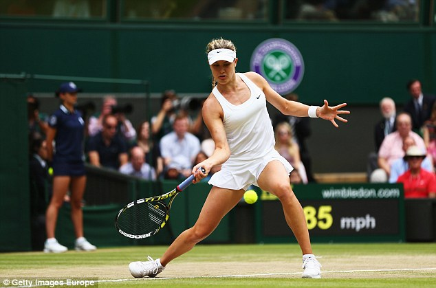 Pressure: 20-year-old Bouchard was playing in her first ever Grand Slam final