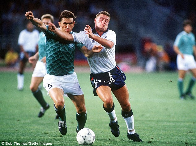 One of the best: Gascoigne became a household name after his performances for England at Italia 90