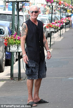 Fun in the sun: Gazza out and about in Southampton
