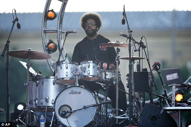 Beating it out: Ahmir 'Questlove' Thompson offered backup
