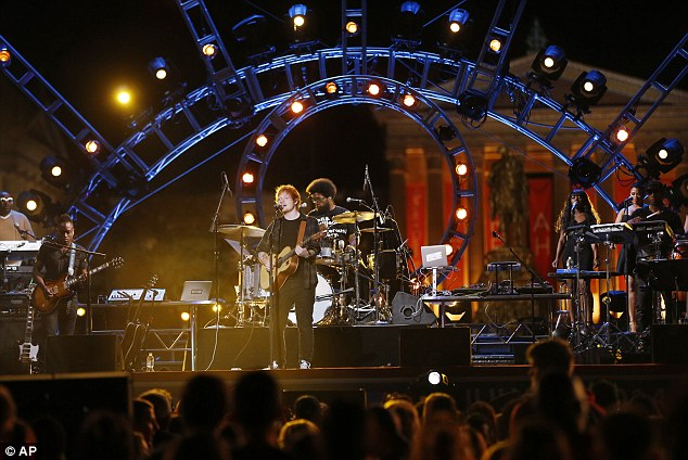 Light show: The large concert still had an intimate feel onstage