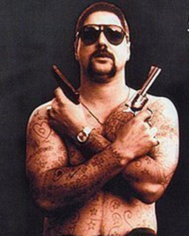 In character: In the actor's defining role playing  Mark 'Chopper' Read in the 2000 Australian film Chopper he  put on 14kgs and spent hours in make up each morning having the tattoos painstakingly put all over his body to play. He said he never saw the character as evil