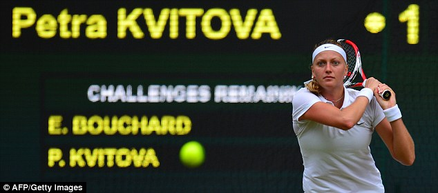 Focused: Kvitova was desperate to land her second Wimbledon title