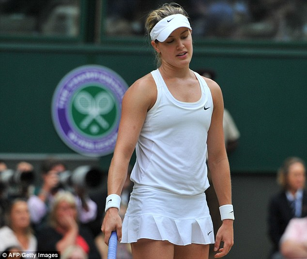 Unfortunate: Eugenie Bouchard had no answers to Petra Kvitova on Centre Court in two sets