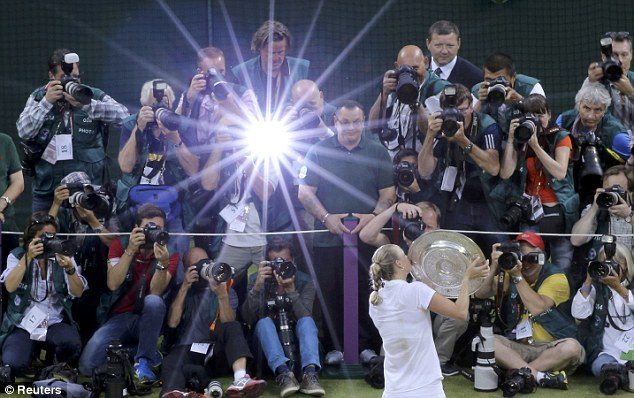 All eyes on her: Champion Kvitova beat Bouchard in 55 minutes on Centre Court