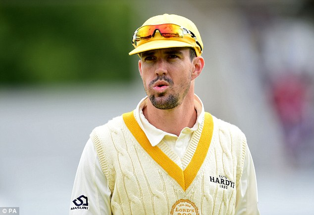 KP: Kevin Pietersen was appearing for a Rest of the World XI to celebrate Lord's bi-centenary