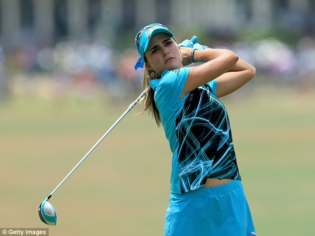 Young star: Lexi Thompson is still only 19 but made her US Open debut seven years ago
