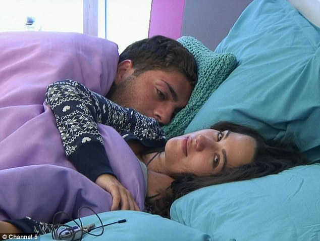 Snuggle: Kimberly and Steven are seen together in bed at the start of their day