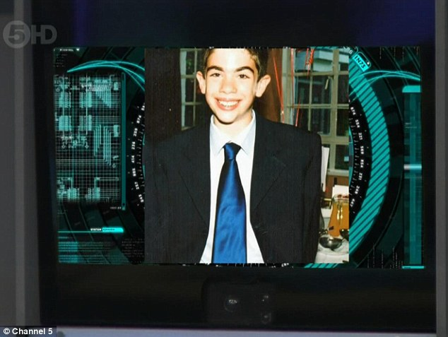 Old school: Before his eviction, Matthew's old picture was shown during the task 'Before They Were Housemates'