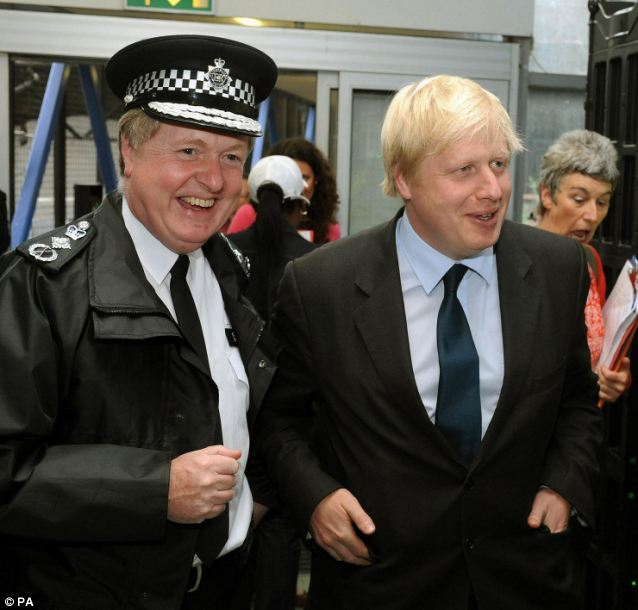 Sir Ian Blair and Boris Johnson. Sir Ian resigned after he said that Mayor Johnson did not have confidence in him